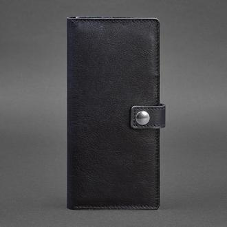 Кожаный Тревел-кейс (органайзер для документов) 6.0 Темно-синий