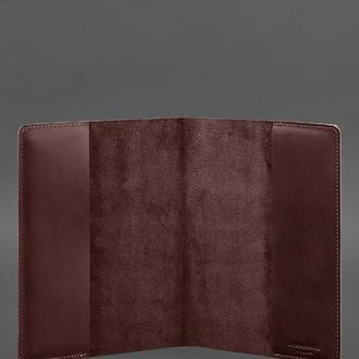 Кожаная обложка для блокнота 6.0 (софт-бук) Бордовая Crazy Horse