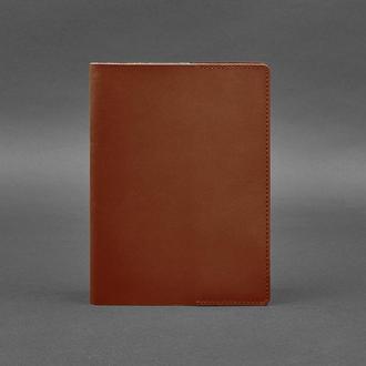 Кожаная обложка для блокнота 6.0 (софт-бук) светло-коричневая
