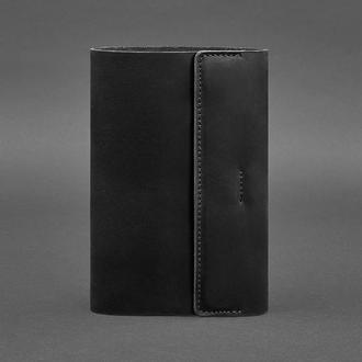 Кожаный блокнот софт-бук 7.0 черный Crazy Horse