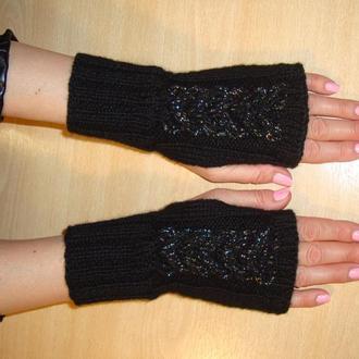 Стильные теплые митенки перчатки без пальцев - florin