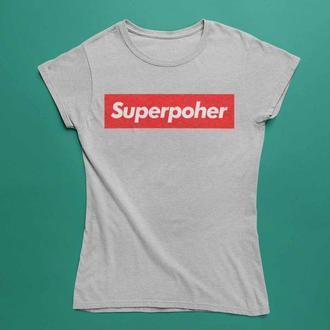 Футболка с надписью Superpoxer