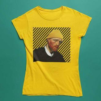 Футблка с принтом Ван Гог в шапочке