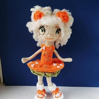 Оранжевая блондинка.. Интерьерная куколка.