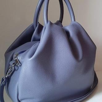 Стильная сумка из натуральной кожи Сиреневый
