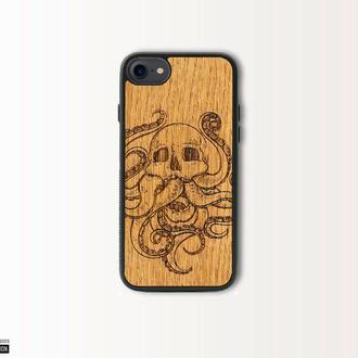 Деревянный чехол из красного дерева для iPhone ( все модели )