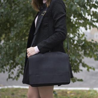 Кожаная сумка на плечевом ремне унисекс