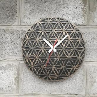 Большие круглые настенные часы, необычные настенные часы, деревянные часы