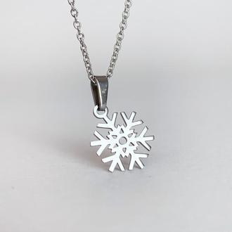 Новогодняя подвеска-снежинка. Подарок на Новый Год. Аксессуары на зиму.  JK jewelry