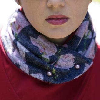 """""""Венеция"""" шарф мини-снуд, теплый шарф, женский шарф, подарок женщине"""