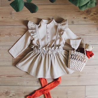 Вельветовая юбка-трансформер. Беретели съемные, на пуговицах