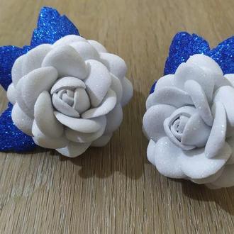Резиночки для волос.  Роза из фоамирана.