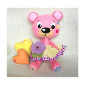 ведмедик рожевий