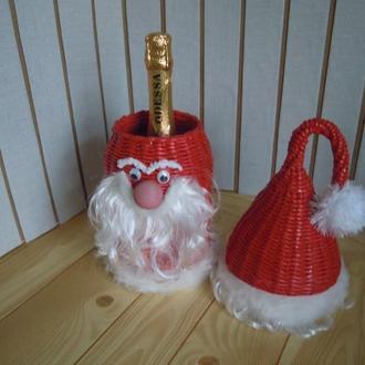 Дед мороз-футляр для шампанского на Новый Год.