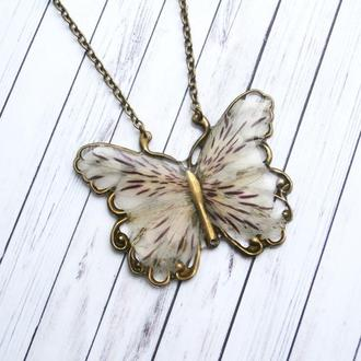 Кулон на шею «Цветочная» бабочка