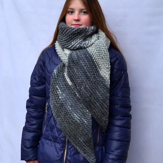 Длинный  вязаный зимний шарф.Женский шарф .Вязаний жіночий шарф.Довгий шарф.Теплый шарф.