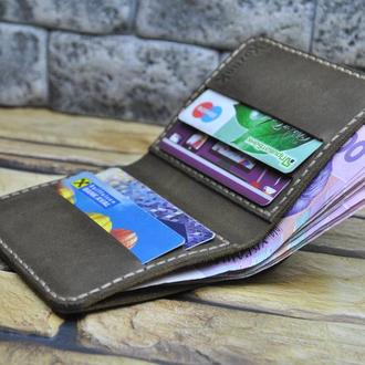Кожаный карманный кошелек K61-320