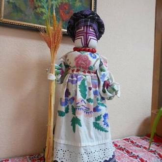 Лялька-мотанка зі старовинних рушників. Оберег для дому.