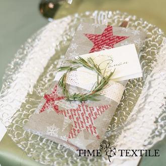 Новогодние салфетки сервировочные Time Textile Christmas Star