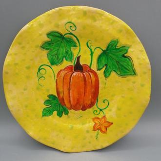 Керамическая тарелка на стену.