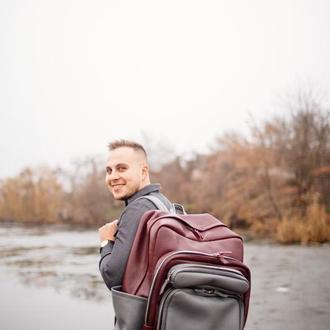 Самый большой кожаный рюкзак, мужской рюкзак из кожи, рюкзак для путешествий
