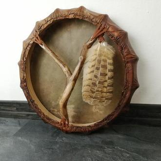 Шаманский бубен Сова 46 см