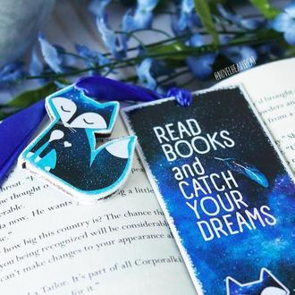 "Закладка для книг ручної роботи ""Read books and catch your dreams"""