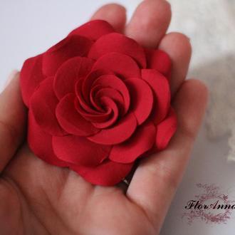 """Заколка  """"Красная роза"""""""