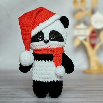 Вязаная плюшевая панда