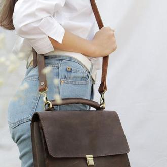 Кожаная сумочка через плечо. Кожаная сумка Минималист.