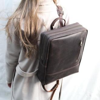 Кожаный рюкзак . Кожаный рюкзак унисекс Мак.