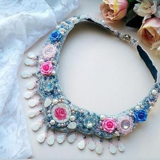 Колье Синие Розы