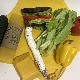 Восковая салфетка для продуктов и еды, багаторазова серветка обгортка, екопакування