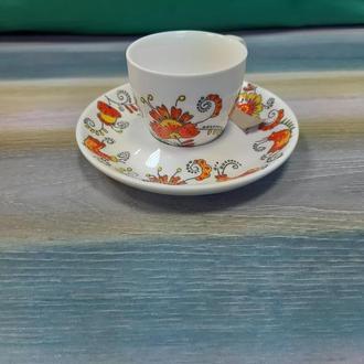 Кофейная чашка +блюдце