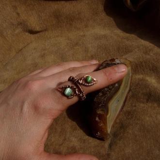 """Кольцо """"Зеленый лист"""""""