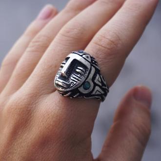 Перстень из серебра 'AZTEC' | мужской перстень | женский перстень | Перстень Ацтек