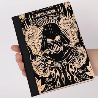Деревянный блокнот с гравировкой, записная книжка, скетчбук Дарт Вейдер, Darth Vader, Star Wars