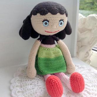 Куколка крючком с кудрями,25 см