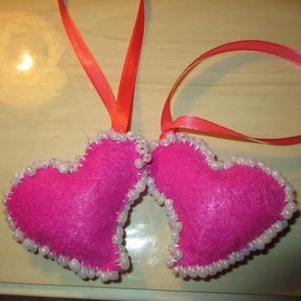 Брелки в форме сердца
