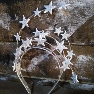 Обруч со звездами к новому году