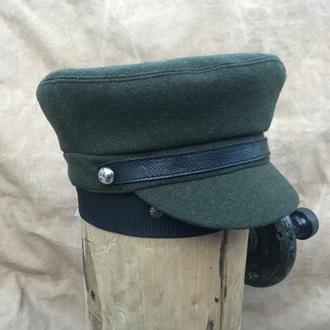 """Женская кепка-капитанка """"Темно-зеленая"""""""