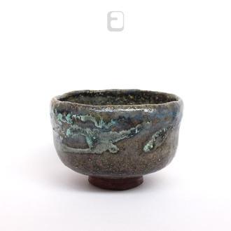 "Work no. 487W — темная чаша, пиала, тяван, чаван ""Norwegian Wood"", teabowl in japanese style"