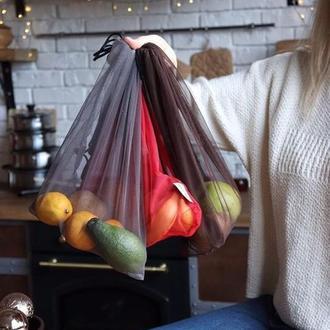 Сіточки торбинки для овочів та фруктів 5 шт