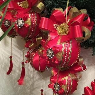 Набор новогодних ёлочных шаров игрушек