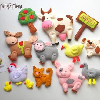 Набор фетровых игрушек Весёлая Ферма