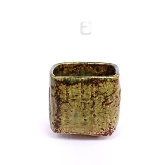 "Work no. 470W — зеленая чаша, пиала, тяван, чаван ""Desert Stone"", teabowl in japanese style"