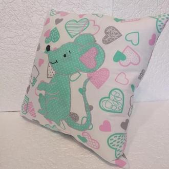 подушка Мышь, мышка, символ года, декор, подарок
