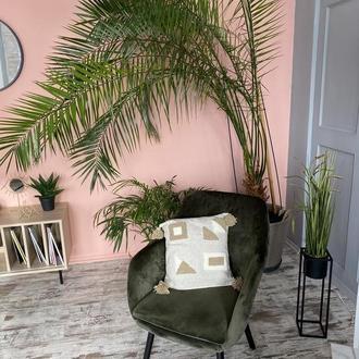 Декоративная стильная геометрическая подушка