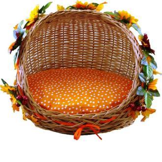 """Плетеная корзина для животных """"Соняшник"""""""
