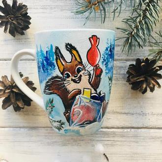 Чашка с росписью-иллюстрацией